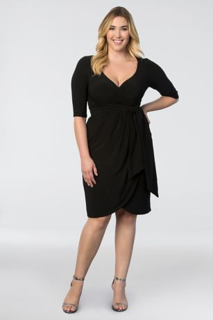 Harlow Plus Size Wrap Dress | David's Bridal