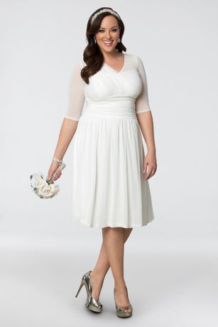 Forever Yours Plus Size Short Wedding Dress | David's Bridal