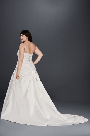 As Is Draped Plus Size Corset Wedding Dress
