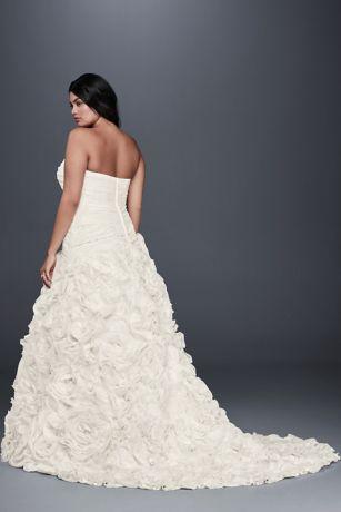 Rosette Skirt Plus Size Wedding Dress Davids Bridal - Rosette Wedding Dress