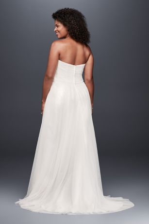 Mouse over to zoomDot Tulle Sweetheart Neck Plus Size Wedding Dress   David s Bridal. Plus Size Sweetheart Wedding Dresses. Home Design Ideas