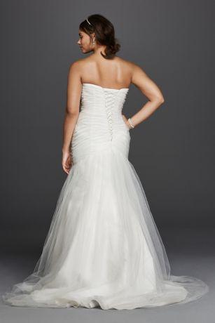 Strapless Sweetheart Tulle Plus Size Wedding Dress Davids Bridal