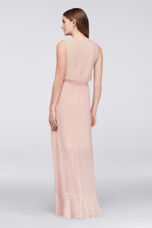 Faux Wrap Chiffon Bridesmaid Dress | David's Bridal