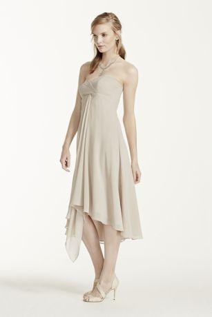 Strapless Chiffon Short Dress | David's Bridal