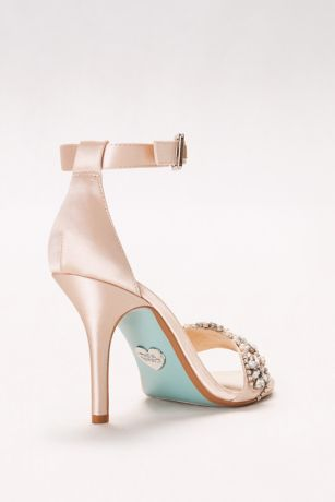 Embellished High Heel Sandals with Ankle Strap | David's Bridal