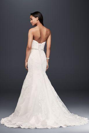 Sweetheart Trumpet Wedding Dress with Beaded Sash | David's Bridal