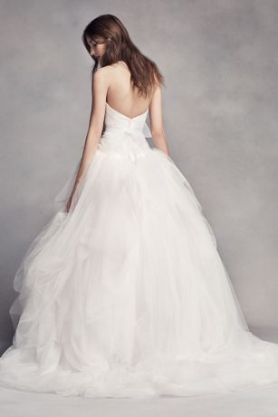White by Vera Wang Hand Draped Tulle Wedding Dress Davids Bridal
