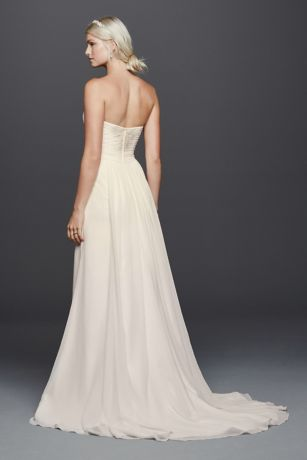 Chiffon Lace Sweetheart Wedding Dress | David's Bridal