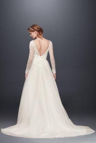 Long Sleeve Wedding Dress With Low Back | David's Bridal