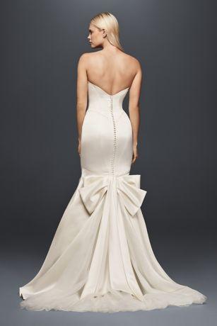 Truly Zac Posen Seamed Satin Wedding Dress | David\'s Bridal