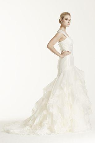 Truly Zac Posen Wedding Dress With Lace Cap Sleeve