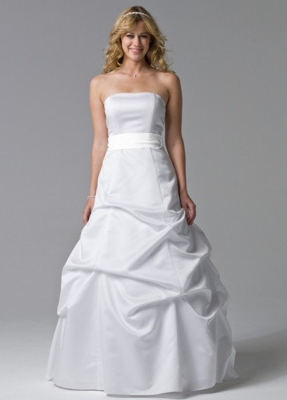 Exquisite Strapless Pick-Up Ball Gown with Sash BR1010