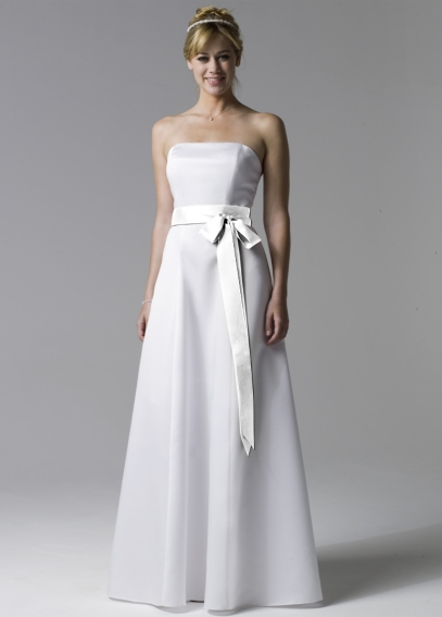 Simply Elegant Strapless Gown with Ribbon BR1014