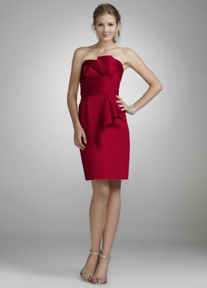 Strapless Satin Dress with Obi Detail 84710