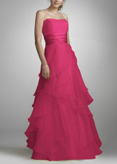 Tiered Organza Ball Gown F14196