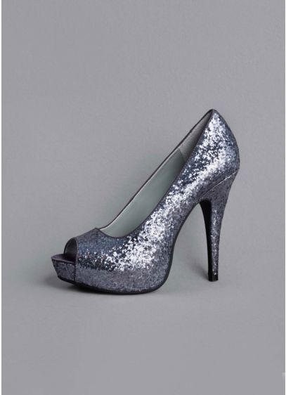 Glitter Peep Toe Platform Pump - Wedding Accessories