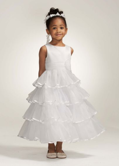 Organza Tiered Tea-Length Ball Gown WG1262