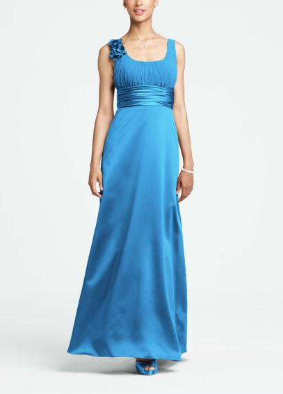 Elegant Satin and Chiffon Ball Gown  F14050