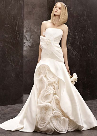 White by Vera Wang Mikado Trumpet Wedding Dress VW351118
