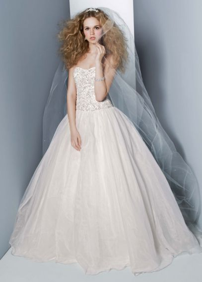 Organza Embroidered Bodice Ball Gown CT569