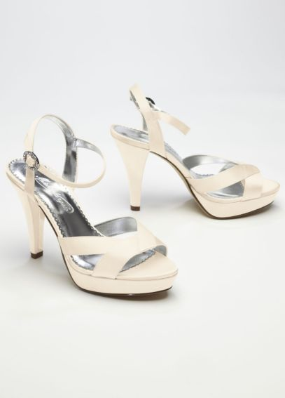 Charmeuse High Heel with Crystal Buckle LILAH