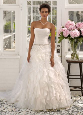 Strapless Organza Ball Gown