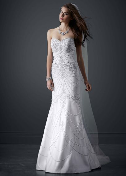 Sweetheart Mermaid Gown with All Over Beading PWG3443