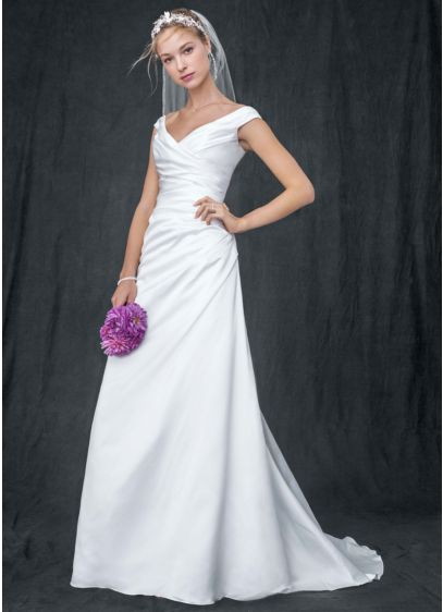 Long A-Line Off the Shoulder Dress -