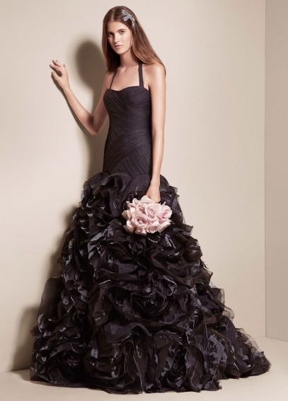 Fit and Flare Gown with Organza and Tulle Petals SOPHIE