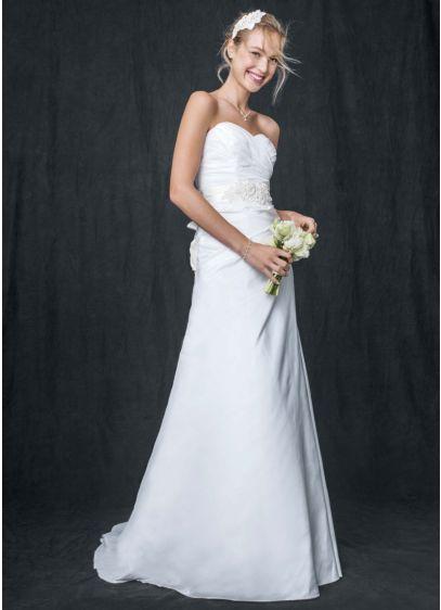 Taffeta a line gown with sweetheart neckline davids bridal long a line wedding dress junglespirit Gallery