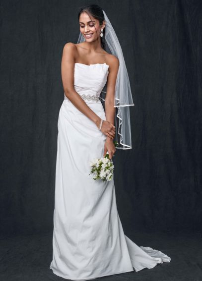 Taffeta Strapless A-line Wedding Gown WG3457