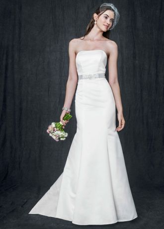 Strapless Trumpet Gown With Ribbon Waist | David's Bridal