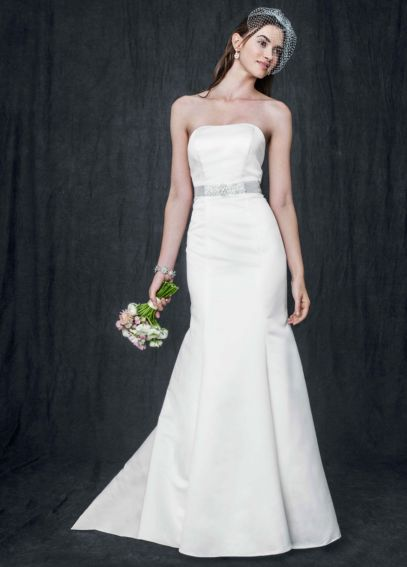 Strapless Trumpet Gown With Ribbon Waist AI10020405