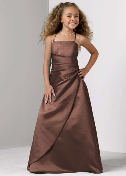 Satin Ball Gown with Side Ruching JB1675