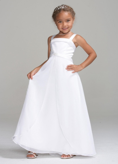 Girl's Special Occasion Dress with Brooch Detail FG9800