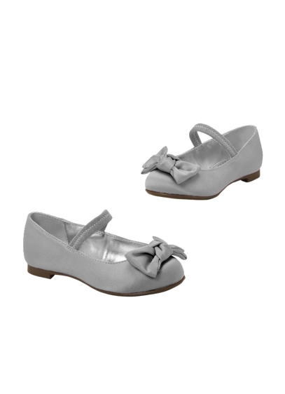 Pink (Flower Girl Satin Ballet Flat with Bow)