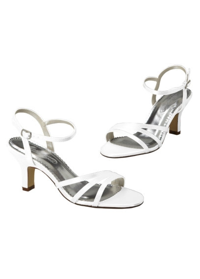 Dyeable Satin Sandal with Asymmetrical Straps STEPHIE