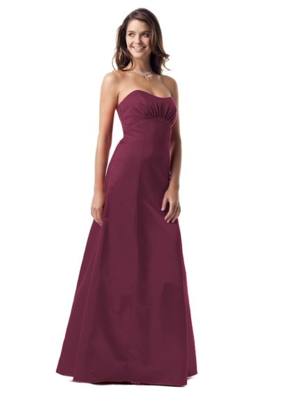 Strapless satin ball gown with ruched bodice  81535