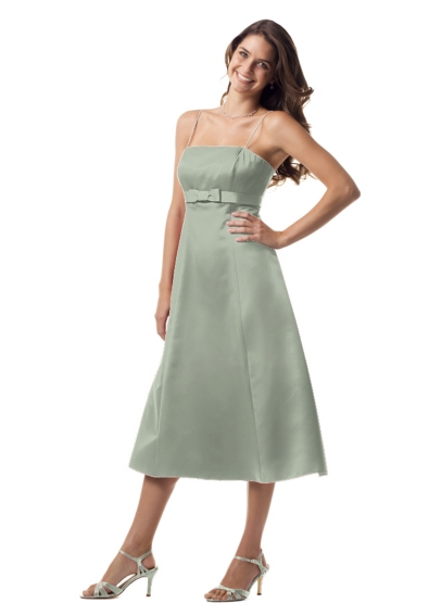 Tea-Length Dress with Ribbon and Bow 8585