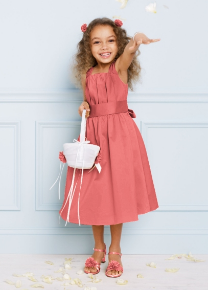 Cotton Sateen Dress with Self Tie Bow H1256