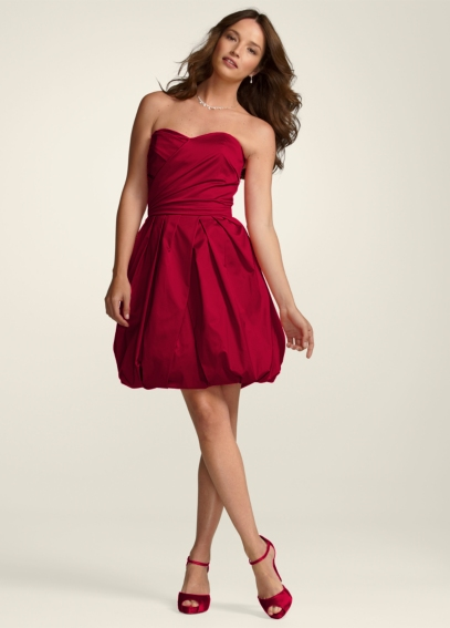 Strapless Cotton Sateen Dress with Bubble Hem 84278