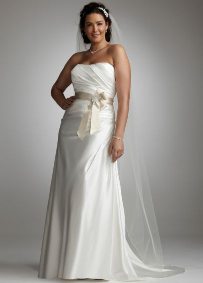 Charmeuse Side-Drape Gown with Sash AI13011716