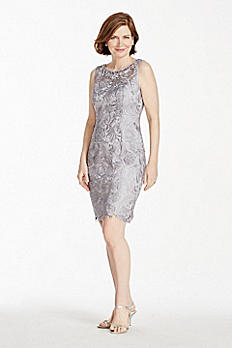 Beaded Lace Cocktail Dress 061904000