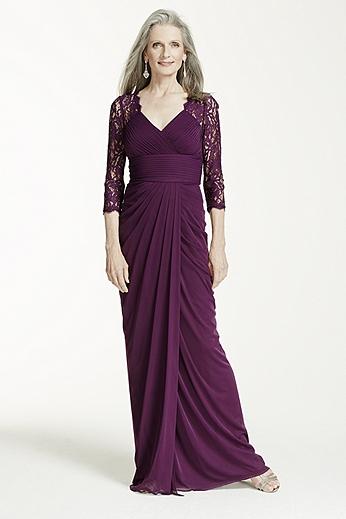 Long Sleeve V Neck Stretch Taffeta Dress 061904180