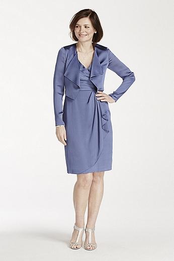 Short Satin Jacket Dress 061909330