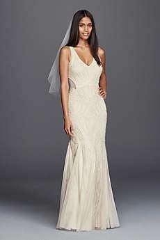 Long Sheath Vintage Wedding Dress - DB Studio
