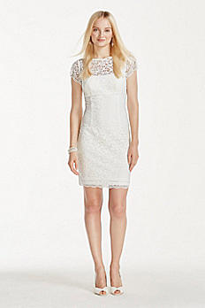 Cap Sleeve Short Lace Sheath 061927080