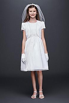 Satin and Organza Communion Dress and Jacket 0912ACP