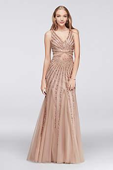 Long Mermaid/ Trumpet Tank Prom Dress - Adrianna Papell
