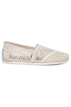 TOMS Brown Casual Shoes (TOMS Crochet Classic Slip-On Shoe)